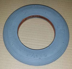 6x 1.1/4 Pneumatic Wheelchair Caster Tire, Light Gray